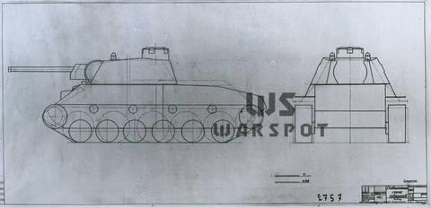 Т-34-М (А-43) - модернизированный средний танк Т-34 (1941 г.) 0dB73