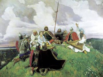 """Васнецов """"После побоища Игоря Святославовича с половцами"""""""