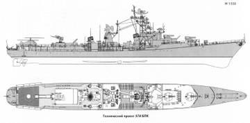 Проект 57А - большой противолодочный корабль WOfHI